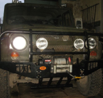Защита оптики и кузова от повреждений на УАЗ Хантер.