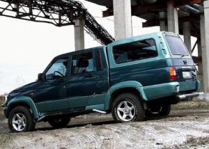 Пикап УАЗ с дубль-кабиной.