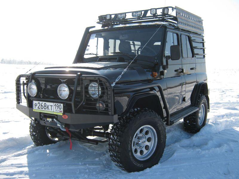 Тюнинг УАЗа 469 для бездорожья: передний силовой бампер